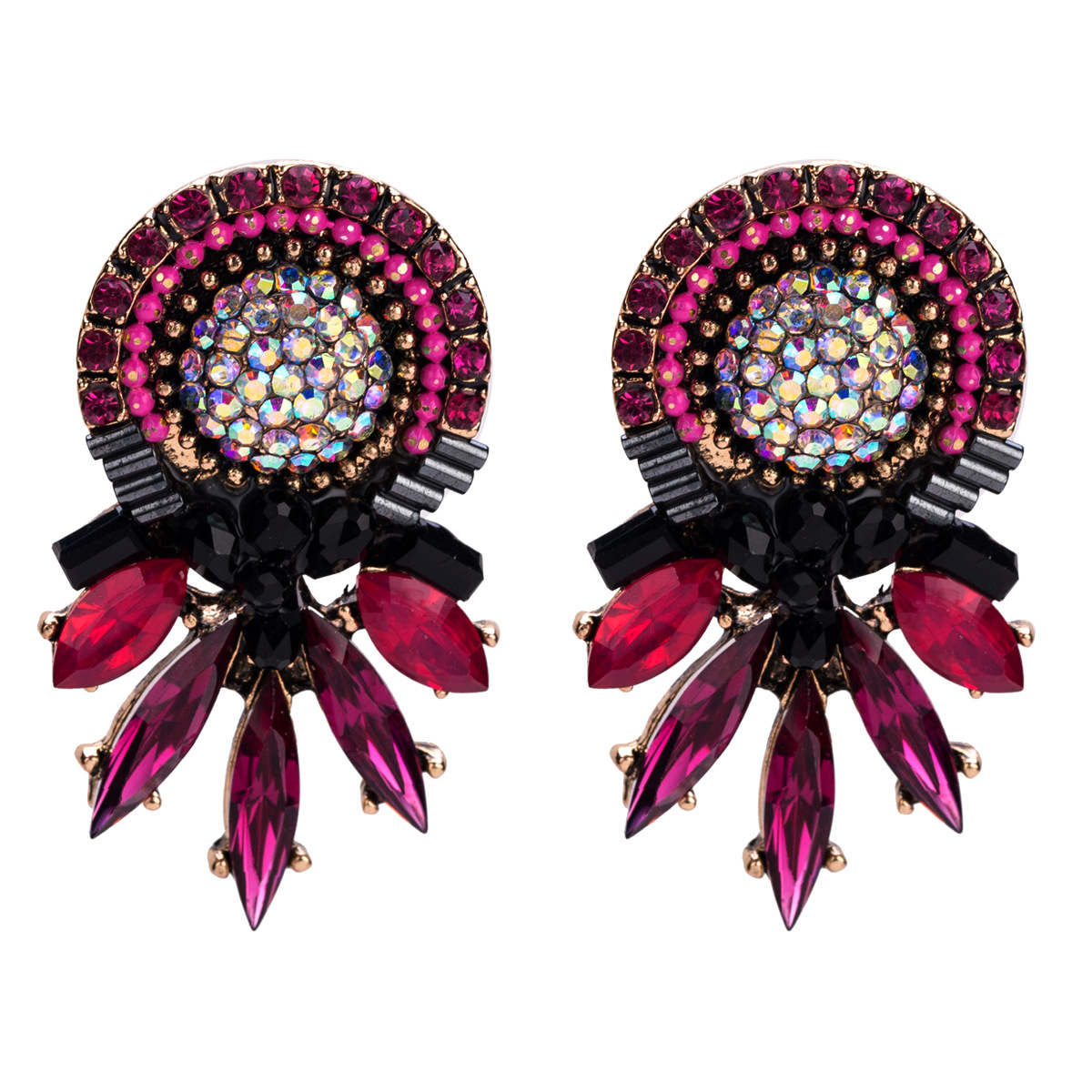 Alloy Fashion Geometric earring  (red) NHJE1336-red