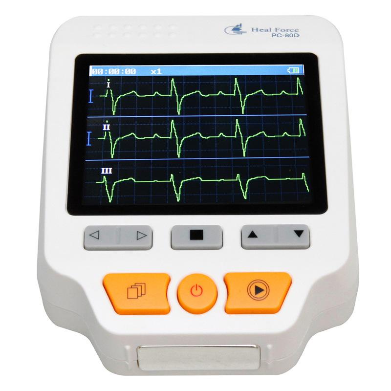 力康心电仪PC-80D专业版快速心电检测仪 测心率血氧脉率心电图机