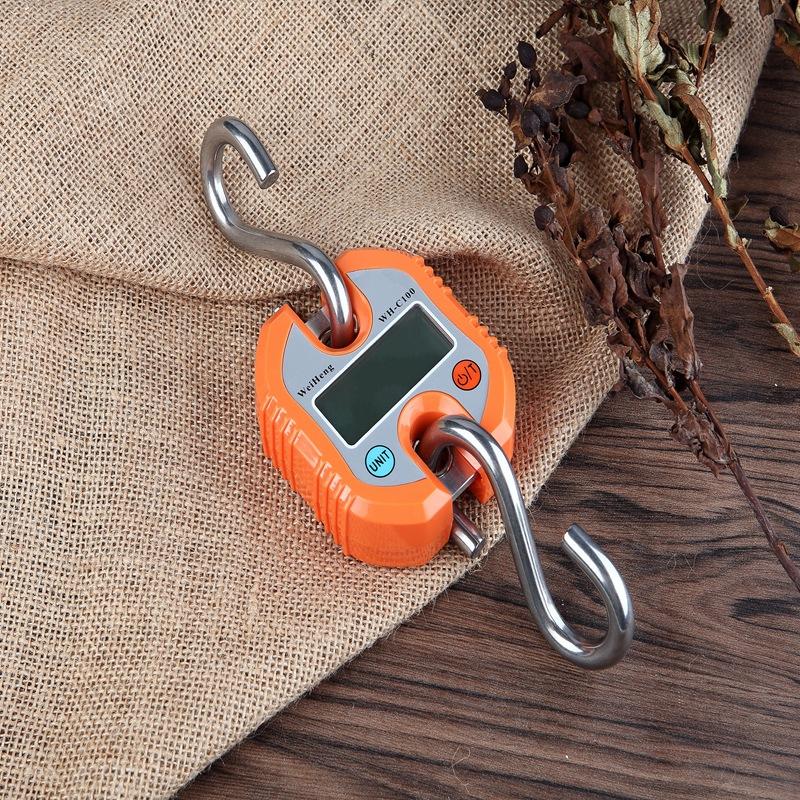 威衡C100电子手提秤150kg手提吊钩称便携式精准电子手提吊秤批发