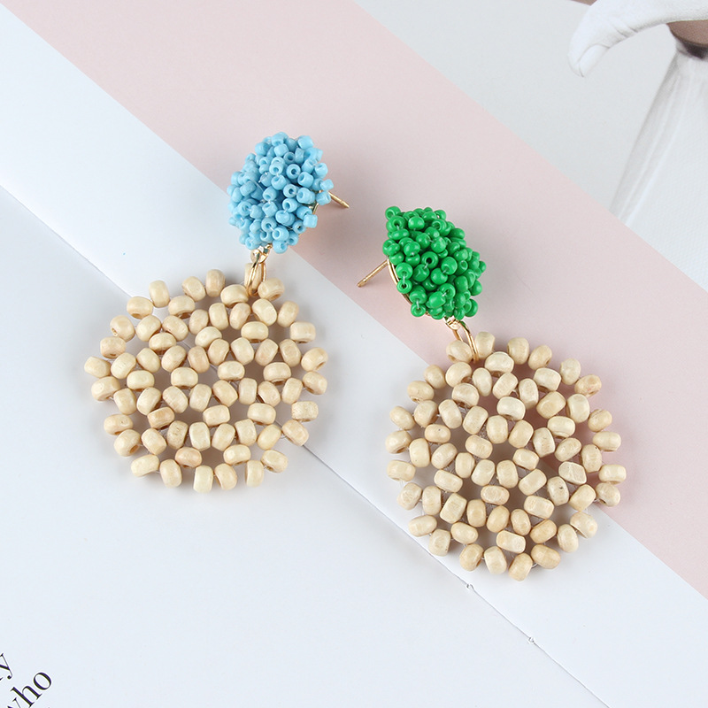 Alloy Simple  earring  (yellow) NHJQ10621-yellow