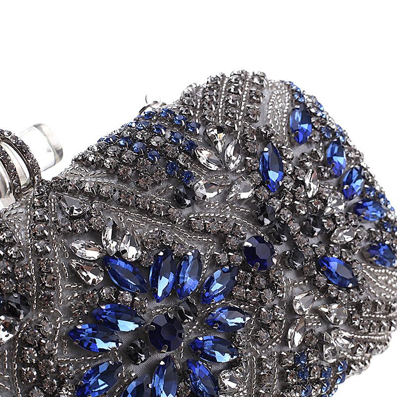 Fashion Rhinestone Acrylic Buckle Dinner Bag NHYG139606