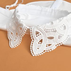Fake collar Detachable Blouse Dickey Collar False Collar Inside with a padded mock collar, lace neck, White Chiffon shirt collar, sweater, fake collar