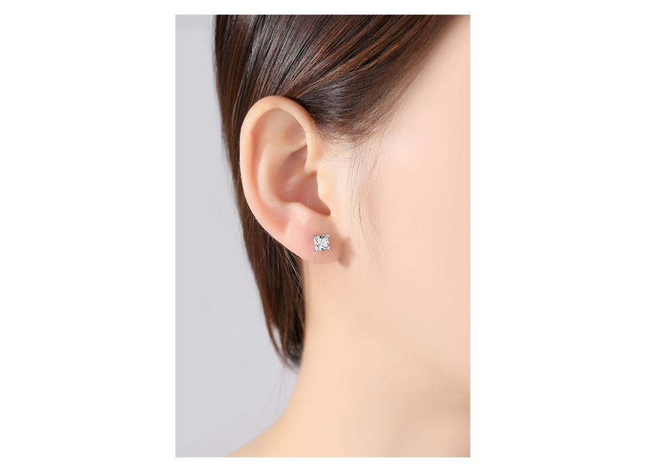 Alloy Simple Geometric earring  (White-01F12) NHTM0254-White-01F12