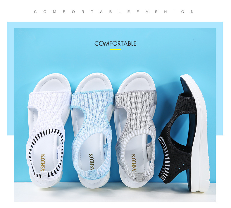 2018 summer new student fashion preparation female sandals thick bottom set foot shoes fashion running wild slippers 86