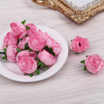 货源仿真玫瑰花朵 人造花头 仿真花朵批发 手工DIY小花苞婚庆花墙插花批发