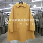 2197 [Senmei] 18th Autumn and Winter New Hand-sewn Double-sided Wool Cashmere Overcoat Wool Coat Female Korean Overcoat Female
