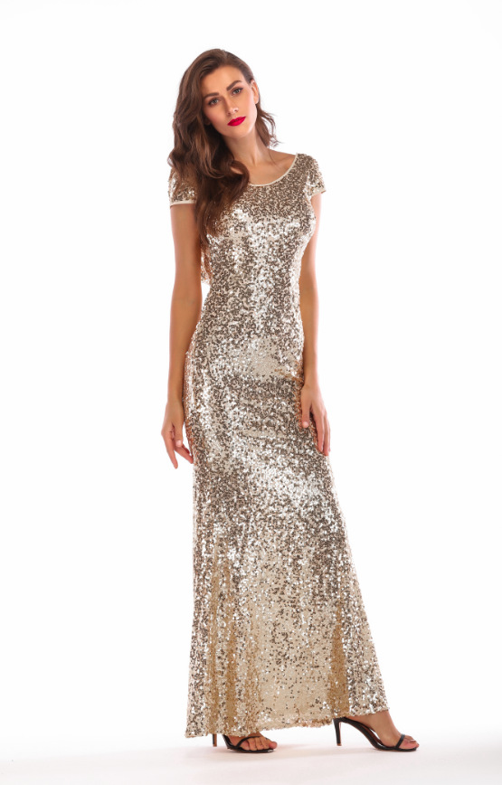 Evening dress women sequins off back party prom gowns long jpg 555x868 Ebay  prom dresses cheap e1855d9b8956