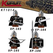 KT1014 魔戒鋼鐸兵槍步兵弓箭手劍步兵人仔拼插積木玩具XP103-106