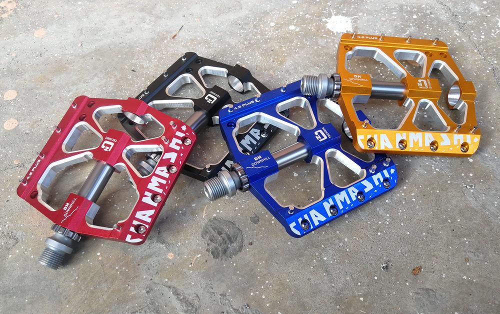 Aluminum MTB DH Road XC Bike 3 Bearings Pedals flat Platfrom Pedal 4.6plus blue