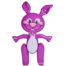 专业定制各种PVC充气动物玩具 兔子企鹅大象充气公仔儿童充气玩具