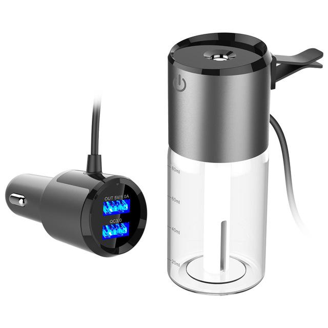 车载加湿器 迷你喷雾空气净化器 车用香薰加湿器USB充电器BC35Q