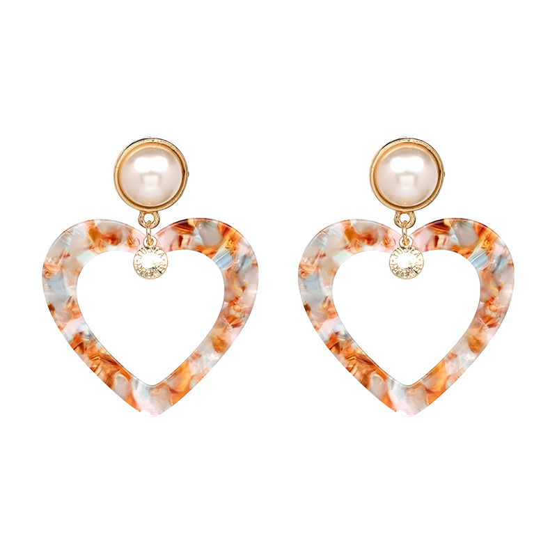Plastic Korea Sweetheart earring(red) NHJJ4672-red