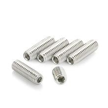 304材质不锈钢M2M3M4M5M6M8M1012内六角平端紧定螺钉机米螺丝顶丝