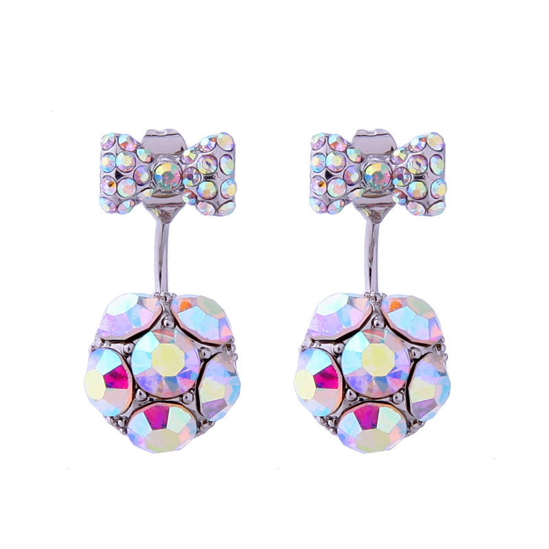 Alloy Fashion Bows earring  (Color -1) NHQD5345-Color-1
