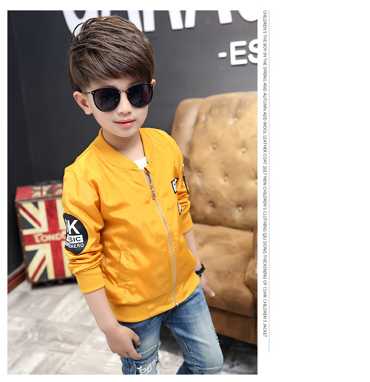 Boys spring jacket 3-13T children long sleeve O-neck active windbreaker teenage clothes big boys cool sport coat boys outwear