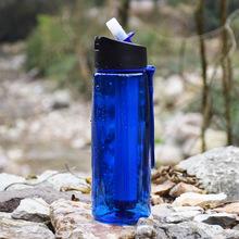 跨境爆款户外运动便携式净水壶提绳过滤水杯直饮净水杯户外净水器