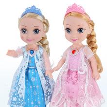 挺逗冰雪奇緣艾莎公主會說話的巴比洋娃娃智能對話跳舞玩具女孩芘