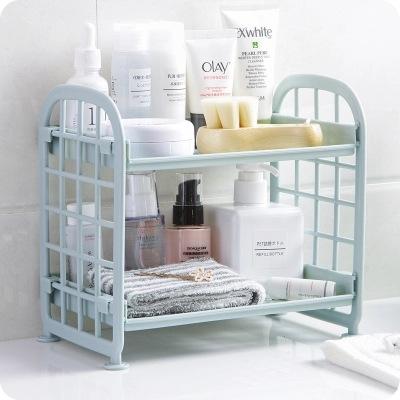 创意镂空置物架塑料化妆品桌面整理厨房调味瓶收纳置物架