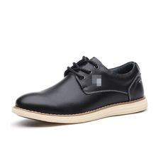 戈德堡韩版休闲男皮鞋透气平板鞋百搭鞋子轻量软面皮鞋男士单鞋