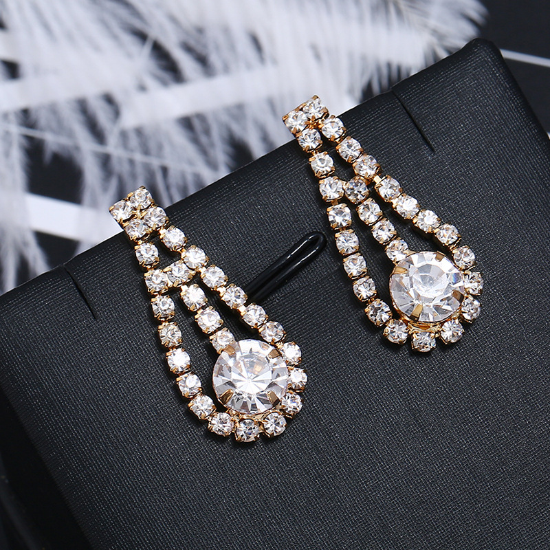 Crystal&CZ Fashion Geometric earring(KC gold white) NHKQ1581-KC gold white