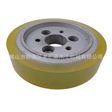 六螺絲孔木工四面刨膠輪(120*20*30)送料輪壓料輪聚氨酯包膠平面