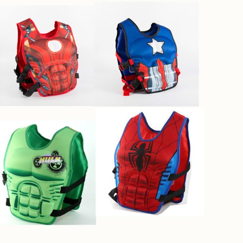新款儿童救生衣蝙蝠侠超人大号儿童漂流背心防晒浮水助力泳衣