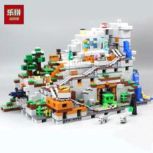 乐拼18032 世界山洞场景兼容小颗粒益智拼装积木玩具儿童过家家