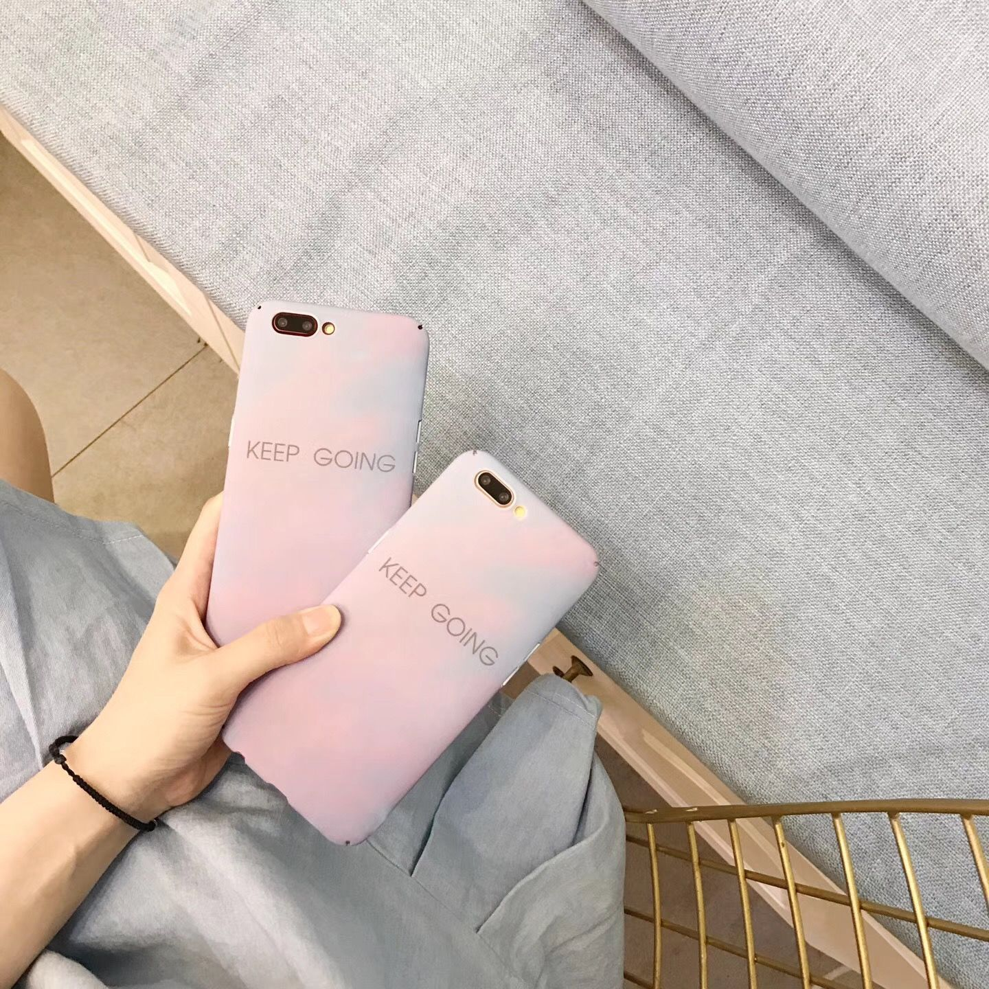 South Korea's new iPhone6 ​​mobile phone shell Apple 7/7plus matte gradient ink all-inclusive hard shell protective cover 6p