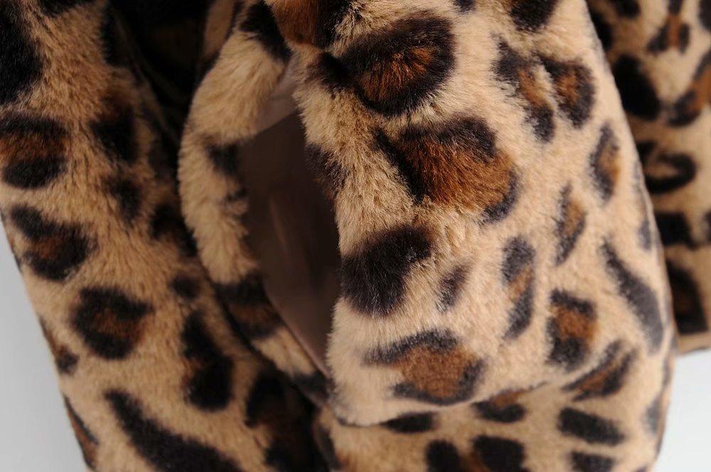 Polyester Fashion  coat  (Leopard-L) NHAM5772-Leopard-L