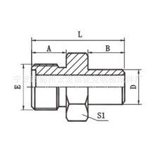 厂家直销公制外螺纹O形圈平面密封/焊接管液压接头