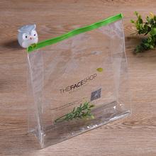 廠家定制pvc拉鏈袋 透明立體化妝品包裝袋 旅行收納包裝塑料袋