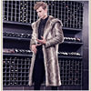 Autumn and winter man Button leather and fur overcoat Mink Mink cashmere have more cash than can be accounted for loose coat leather and fur Rabbit's hair Whole mink men's wear