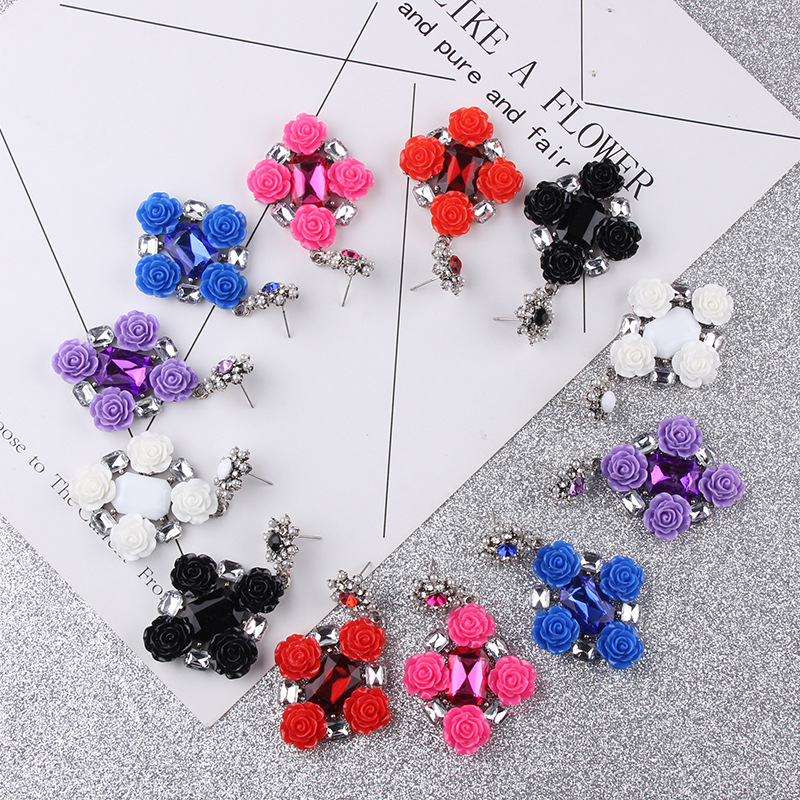 Alloy Fashion Flowers earring(white) NHJQ10473-white