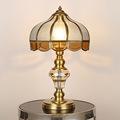 定制全铜美式欧式台灯 led卧室书房客厅酒店水晶焊锡台灯床头灯
