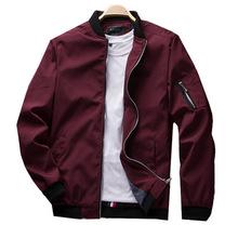 春季新款男式夹克休闲韩版时尚潮流修身纯色棒球领夹克衫外套男装