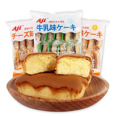 AJI牛乳芝士味蛋糕180g 12枚装早餐手撕面包小吃点心休闲零食