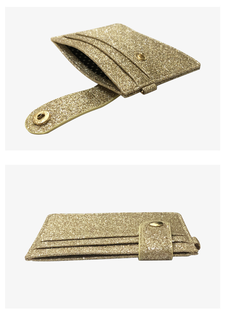 Korean new short fashion small girl certificate card bag buckle wallet NHBN242517