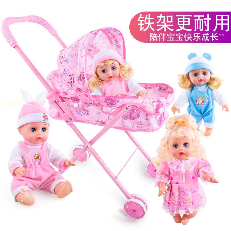 儿童玩具推车娃娃宝宝女童女孩婴儿过家家玩具小推车玩具手推车