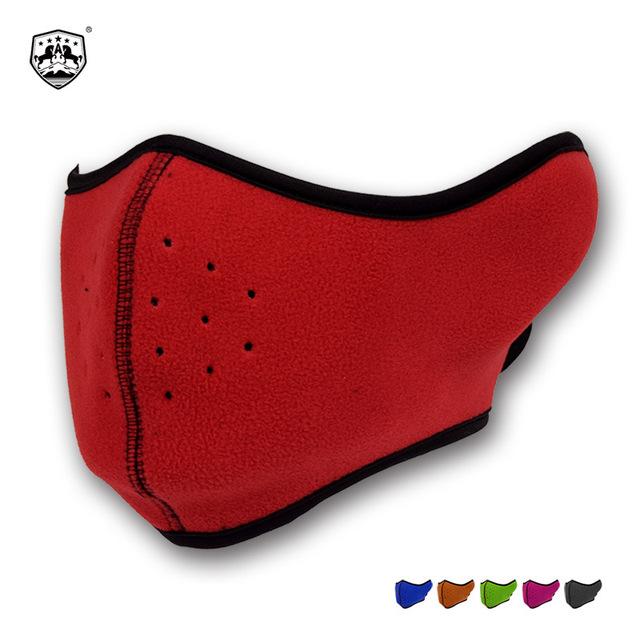 跨境专供冬季抓绒口罩骑行登山摇粒绒面罩跑步摩托车运动耳罩面罩