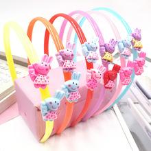 热卖韩版儿童可爱塑料发箍糖果色头箍甜美卡通发箍 2元店饰品批发
