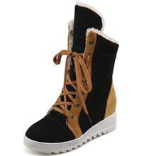 磨砂拼色雪地靴 保暖鞋女大码外贸女鞋 169