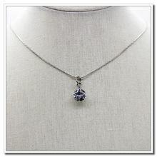 简约?#35813;?#22278;形单钻锆石水晶锁骨项链韩国时尚简约吊坠 厂家直销