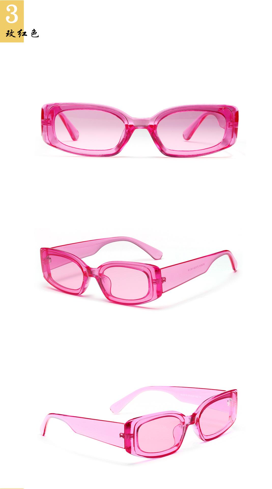 New fashion candy color square sunglasses color transparent glasses wholesale NHXU205408
