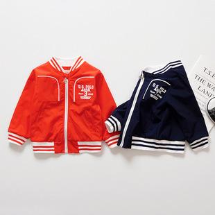 Nhà máy trực tiếp mùa xuân trai mới Phiên bản tiếng Hàn của chữ in thường áo khoác thể thao màu rắn một thế hệ
