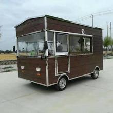 电动小吃车流动四轮快餐车吉品美食车早餐车烧烤车街景车移动房车