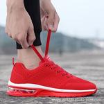 亚马逊速卖通大码男鞋轻便耐磨气垫跑步鞋针织透气网布情侣运动鞋