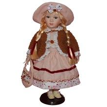 跨境玩具娃娃休闲陶瓷娃娃家居装饰玩偶圣诞公仔洋娃娃一件代发