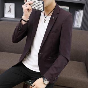 Factory direct sale men's suit jacket casual Korean style men's wedding suit slim fit suit jacket men wholesale