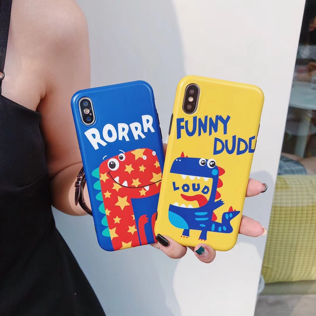 New vivo NEX simple small dinosaur TPU soft shell iPhone X/7 drop personality OPPOr15 mobile phone shell