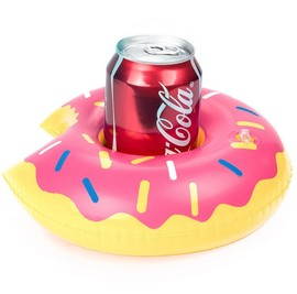Donut Inflatable Cup Holder Triangle Inflatable Cup Holder PVC Green Inflatable Water Coaster